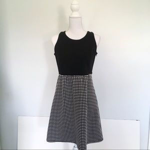 Anthropologie Tabitha Black Checkered Dress